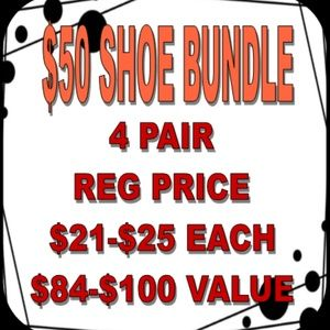 $50 for 4 Pairs of Shoes